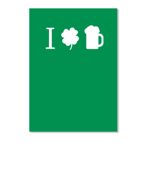 I Love Beer Kelly Green T-Shirt Front