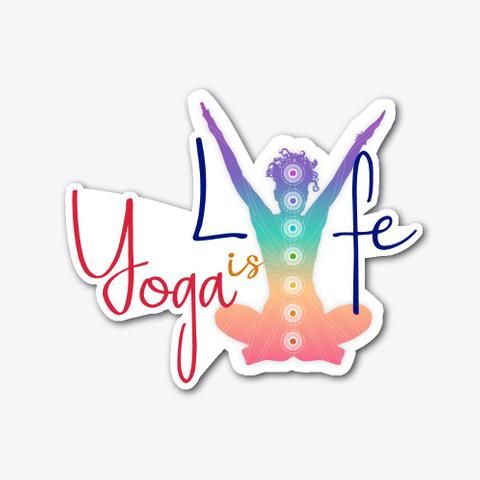 Yoga Is Lyfe   7 Chakra Stickers Standard T-Shirt Front
