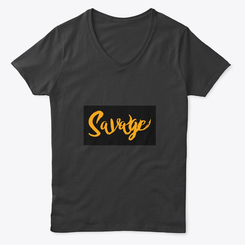 The Savage Type Black T-Shirt Front