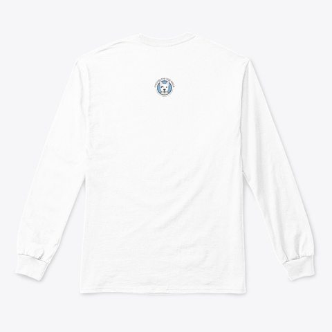 Cdr Peace Love Rescue White T-Shirt Back