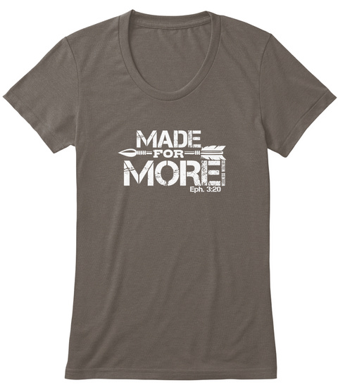 e66aa8a5 Made For More Coffee T-Shirt Front