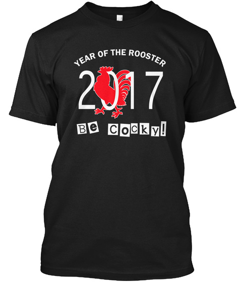 Chinese New Year   Year Of The Roos 2017 Black T-Shirt Front