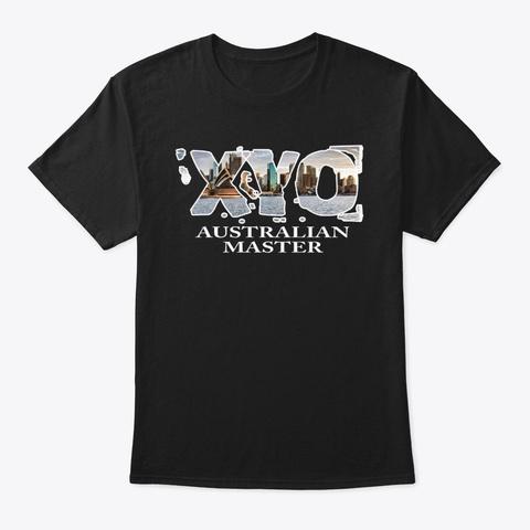 Xyo Australian Master Black T-Shirt Front