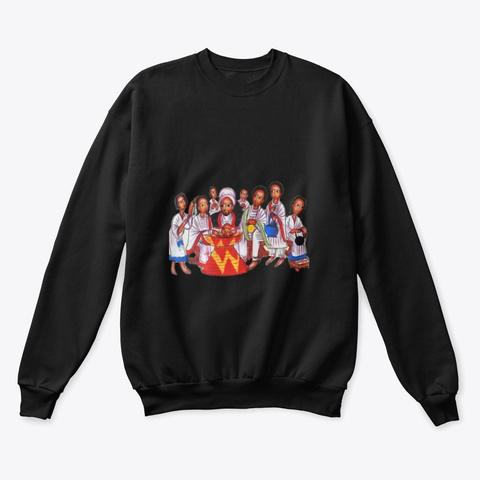 Habesha Art  Black T-Shirt Front