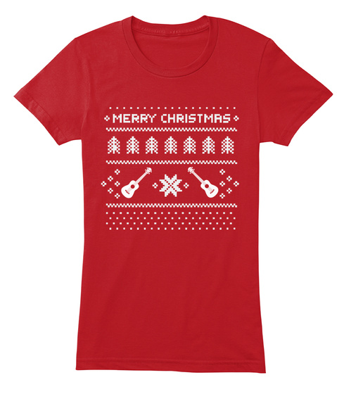 Marry Christmas Red T-Shirt Front