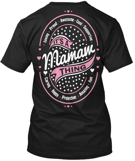 Its A Mamam Thing Black T-Shirt Back