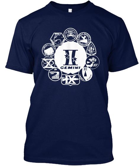 Gemini Navy T-Shirt Front