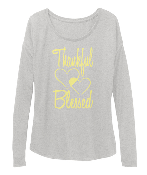 Thankful Blessed Athletic Heather T-Shirt Front