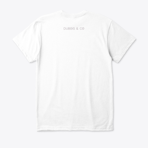 Abstract Ocean Worship White T-Shirt Back