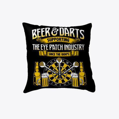 Darts: Beer And Darts Black T-Shirt Front