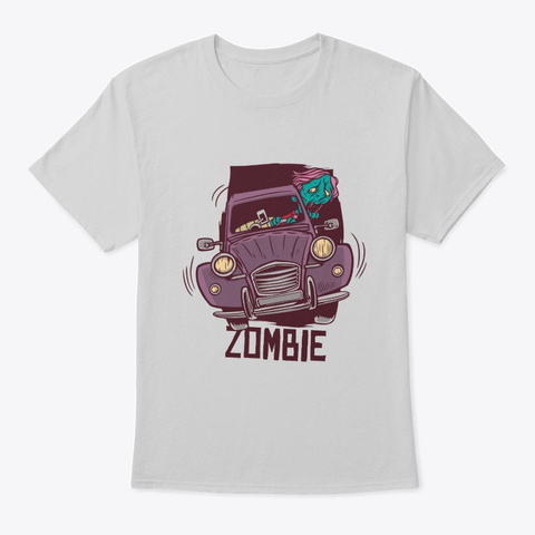 Zombie Driver Light Steel T-Shirt Front