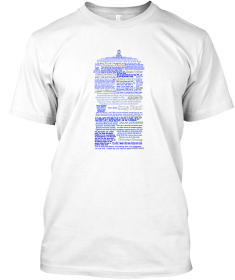 The Doctor Word Art White T-Shirt Front