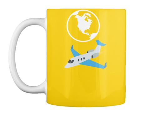 Traveling  Lemon Yellow T-Shirt Front