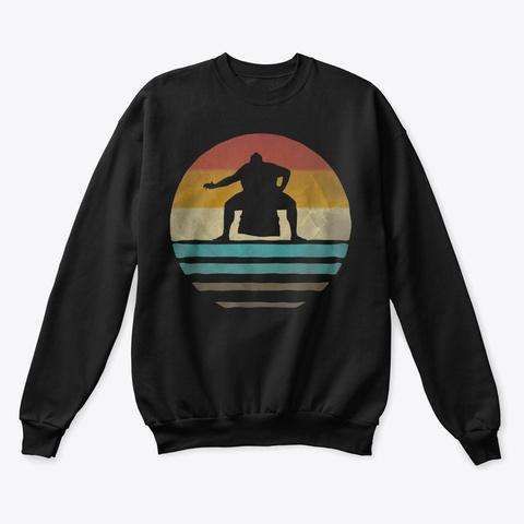 Sumo Shirt Retro Vintage 70s Black T-Shirt Front