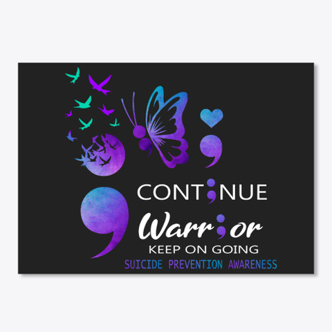 Keep On Going Black T-Shirt Front