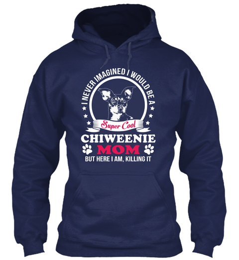 Chiweenie Navy T-Shirt Front
