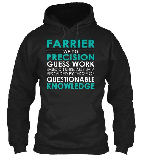 Farrier   We Do Black T-Shirt Front