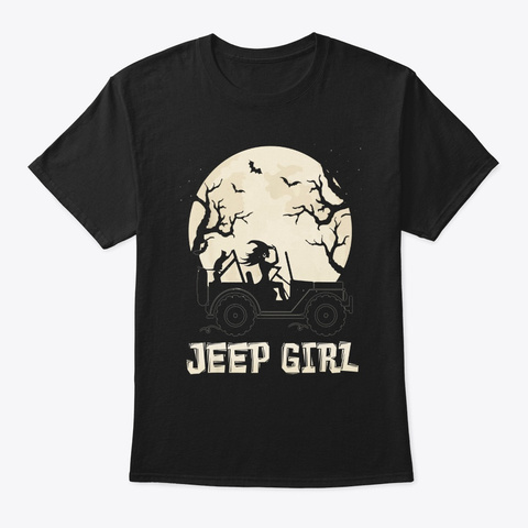 Halloween The Best Witch Drive Jeeps Black T-Shirt Front