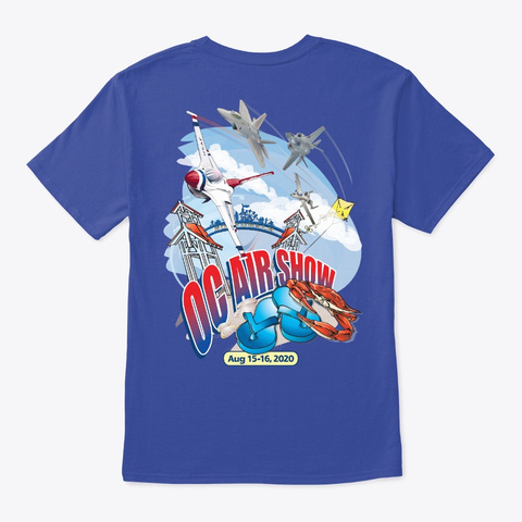2020 Oc Air Show Official Merchandise Deep Royal T-Shirt Back