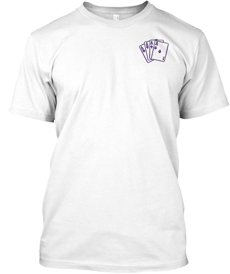 Chiari Poker Run White T-Shirt Front