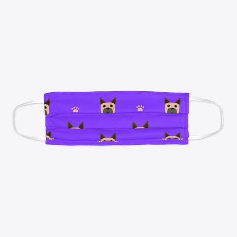 Purple Cute Great Dane Face Mask Standard T-Shirt Flat