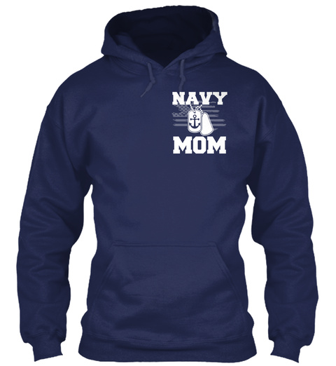 Navy Mom Navy T-Shirt Front