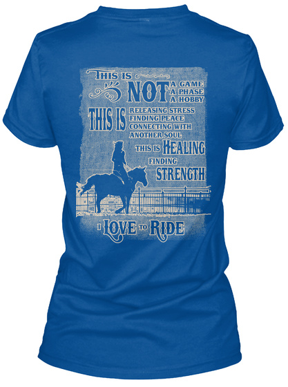 This Is Not Agame Aphase A Hobbythis Is Releasing Stress Finding Peace Connecting With Another Soul This Is Healing... Royal T-Shirt Back