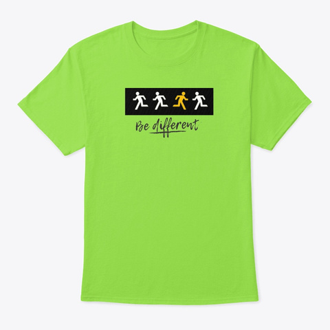 Simply Be Different Lime T-Shirt Front