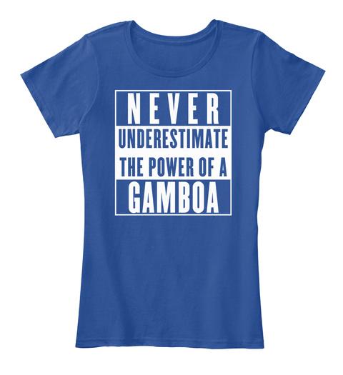Gamboa This Is My Power. Deep Royal  T-Shirt Front