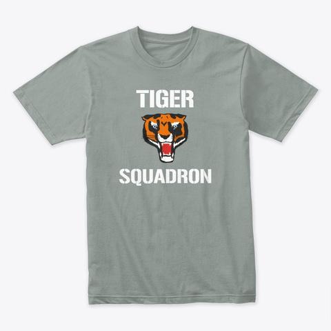 Tiger Squadron T Shirt Warm Grey T-Shirt Front