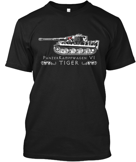 Panzer Kampfwagen Vi Tiger Black T-Shirt Front