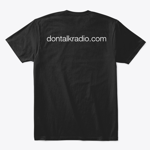 Don Talk Black T-Shirt Back