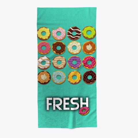 Toalla  Playa Rosquillas Donut Colores Aqua T-Shirt Front