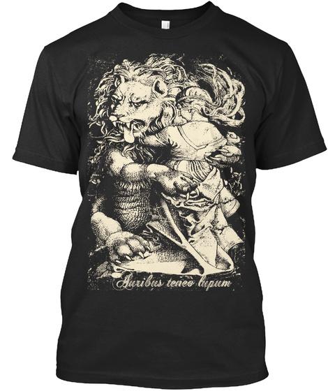 Auribus Teneo Lupum  Organic Tshirts Black T-Shirt Front