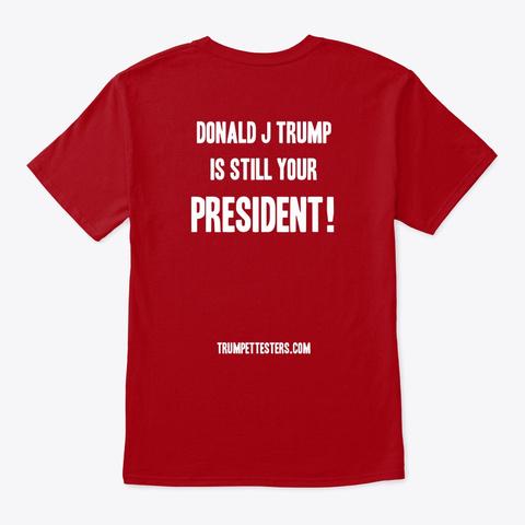 Make Them Cry Again   Unisex Tee Slim Deep Red T-Shirt Back