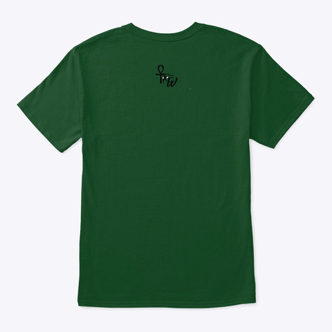 Paint. Meditate. Elevate. Deep Forest T-Shirt Back