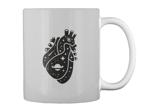 Space Heart 2 Mug [Int] #Sfsf Light Grey Mug Back