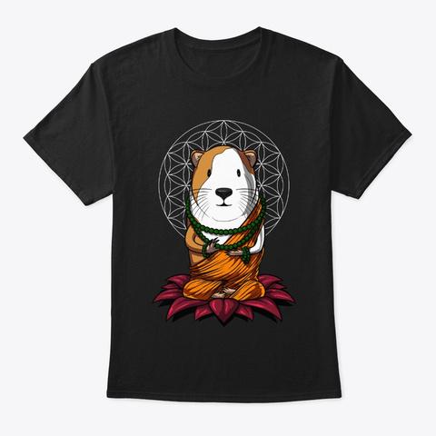 Guinea Pig Zen Yoga Black T-Shirt Front