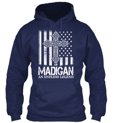 Team Madigan An Endless Legend Navy T-Shirt Front