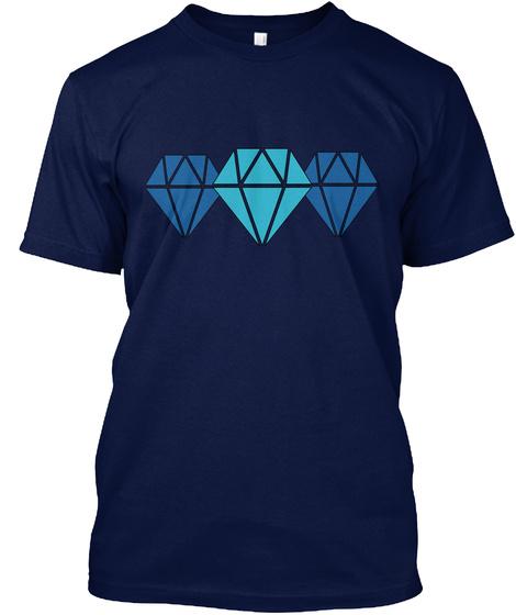 3 X  Diamond Tee Navy T-Shirt Front