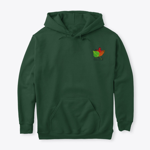 Colors Of Fall Forest Green T-Shirt Front