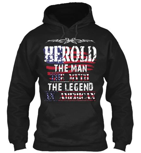Herold  Black T-Shirt Front