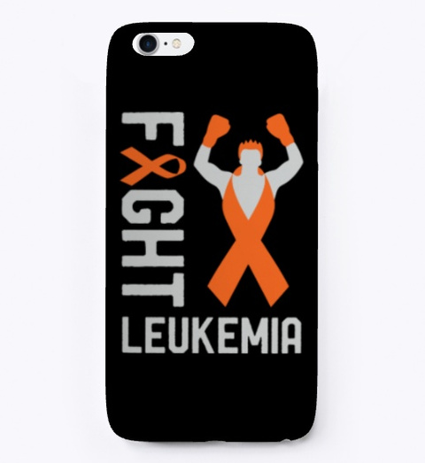 Fight Leukemia Cancer Awareness Fighter Black T-Shirt Front
