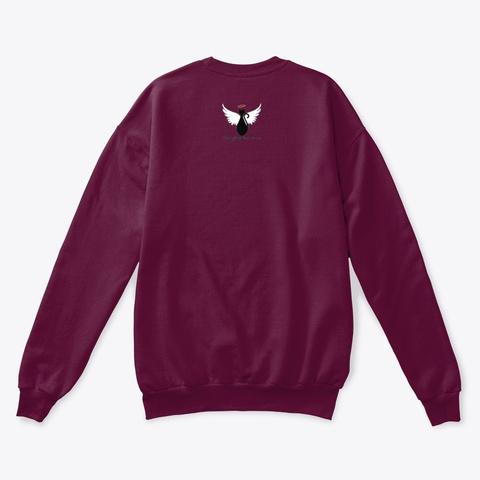 Pet Angel Cats Design Maroon  T-Shirt Back