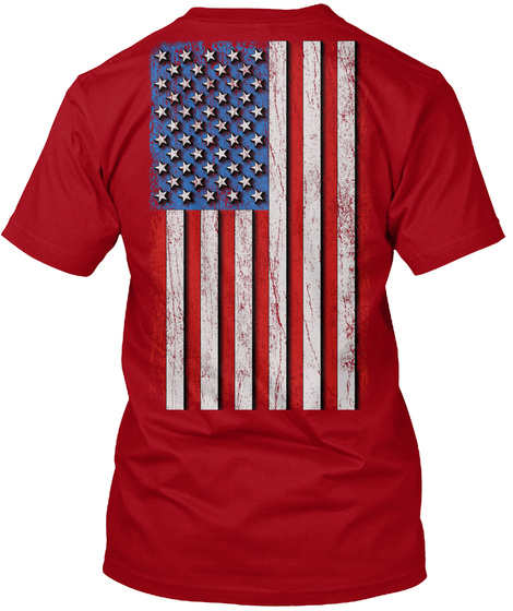 Red: Remember Everyone Deployed Deep Red T-Shirt Back