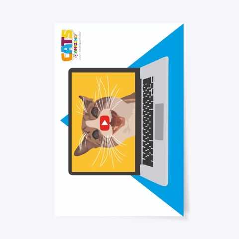Cat Videos – 'R' Amazing Poster Standard T-Shirt Front