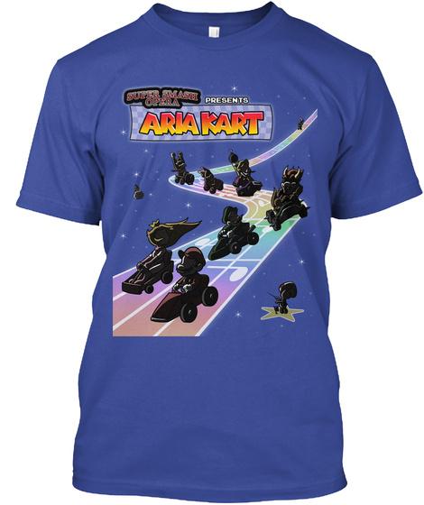 Aria Kart   Rainbow Road Deep Royal T-Shirt Front
