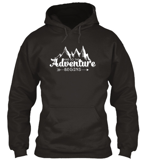 And So The Andventure Begins Jet Black T-Shirt Front