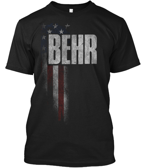 Behr Family American Flag Black T-Shirt Front