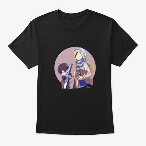 Sword Art Online     Sao, Anime, Manga Black T-Shirt Front
